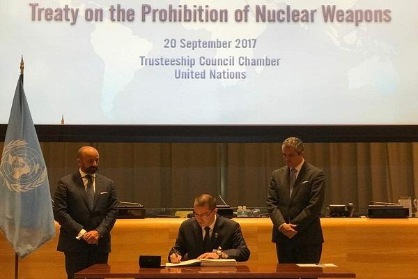 Venezuela Se Adhiere Al Tratado De Prohibici N De Armas Nucleares Ministerio Del Poder Popular