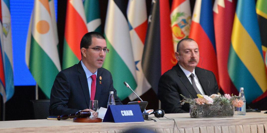 Jorge Arreaza Venezuela Mnoal Ilham Aliyev Azerbayan