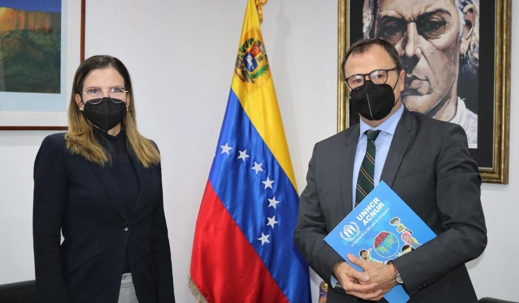 Viceministra Rodríguez sostiene reunión con representante adjunto de Acnur a fin de retomar trabajo mancomunado