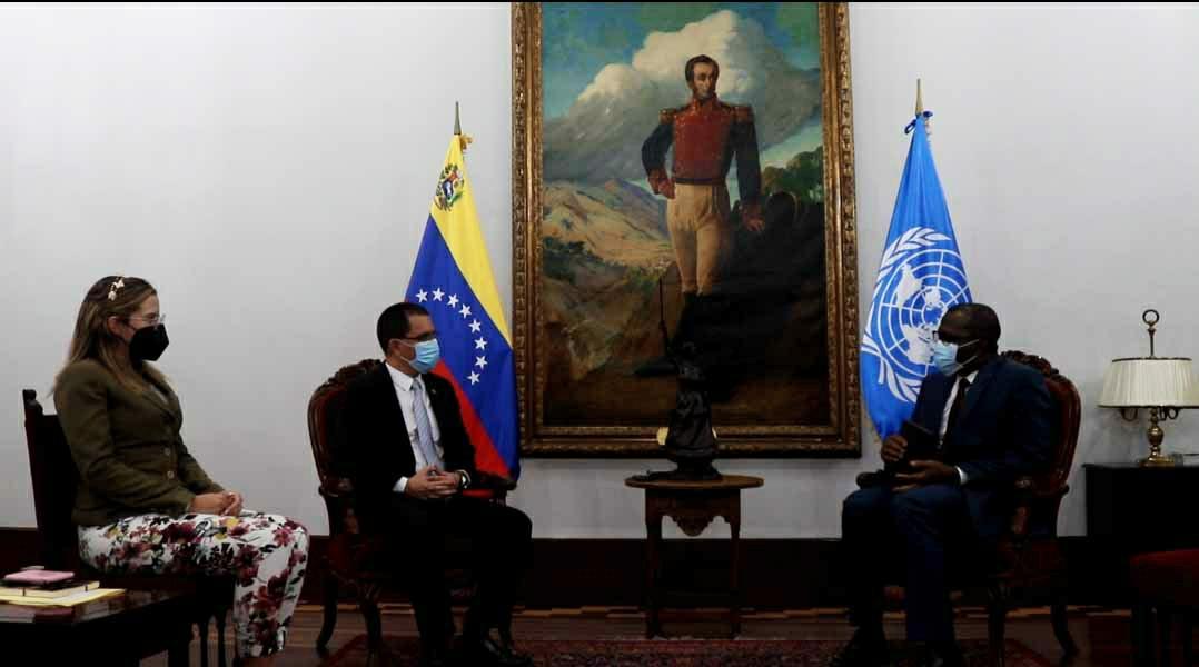 Canciller Arreaza se despide de Representante de Acnur acreditado en Venezuela