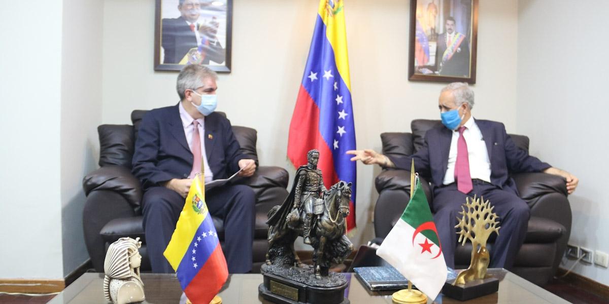 Venezuela y Argelia revisan agenda de cooperación nacional e internacional